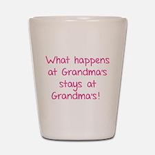 What happens at Grandma's stays at Grandma's! Shot