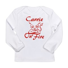 Carrie On Fire Long Sleeve Infant T-Shirt