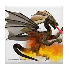 Dragon Lampworker - Side View Tile Coaster