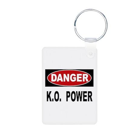 K.O. Power Aluminum Photo Keychain