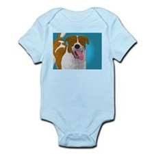 Happy Mutt Pup Art Infant Bodysuit