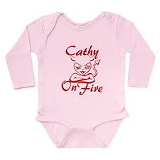 Cathy On Fire Long Sleeve Infant Bodysuit