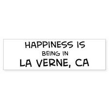 La Verne - Happiness Bumper Bumper Sticker
