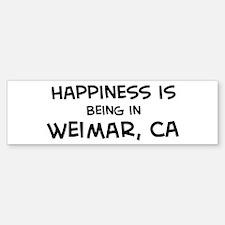 Weimar - Happiness Bumper Bumper Bumper Sticker