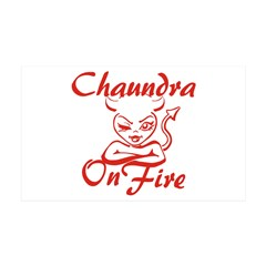 Chaundra On Fire Wall Decal
