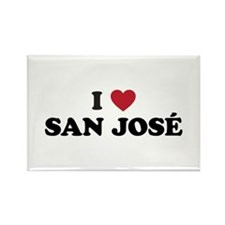 I Love San Jose Rectangle Magnet