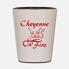 Cheyenne On Fire Shot Glass