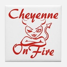 Cheyenne On Fire Tile Coaster