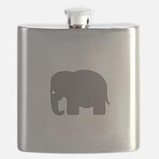Grey Elephant Silhouette Flask