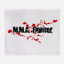 Bloody Fighter Throw Blanket