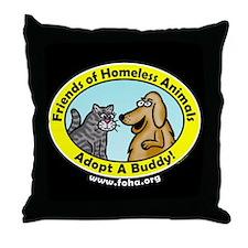 FOHA Adopt A Buddy Throw Pillow