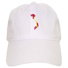 Vietnam Flag And Map Baseball Cap