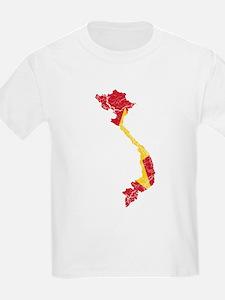 Vietnam Flag And Map T-Shirt