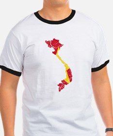 Vietnam Flag And Map T