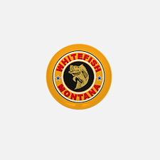 Whitefish Gold Circle Mini Button