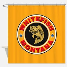 Whitefish Gold Circle Shower Curtain