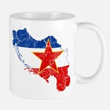 Yugoslavia Flag And Map Mug