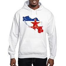 Yugoslavia Flag And Map Hoodie