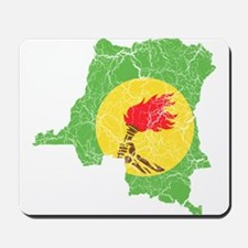 Zaire Flag And Map Mousepad