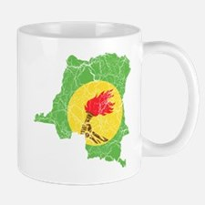 Zaire Flag And Map Mug