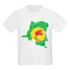 Zaire Flag And Map T-Shirt