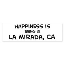 La Mirada - Happiness Bumper Bumper Sticker