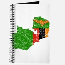 Zambia Flag And Map Journal