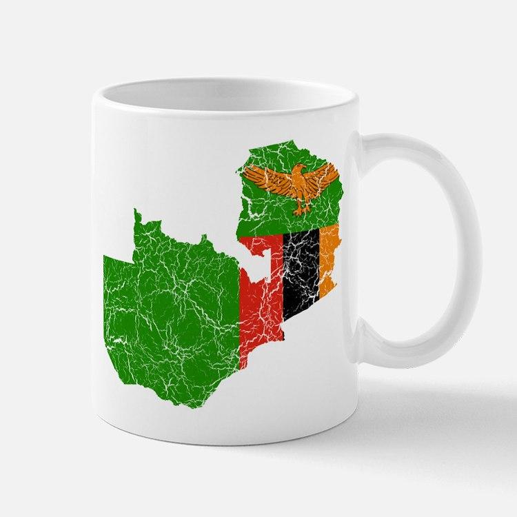 Zambia Flag And Map Mug