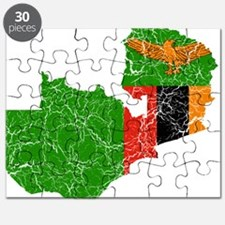 Zambia Flag And Map Puzzle