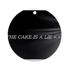 The Cake Is A Lie!! Ornament (Round)