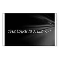 The Cake Is A Lie!! Decal