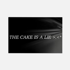 The Cake Is A Lie!! Rectangle Magnet