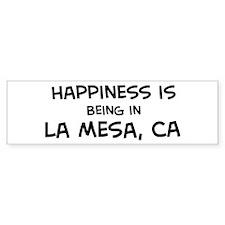 La Mesa - Happiness Bumper Bumper Sticker