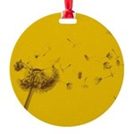 yellow_dandy_12x2_.png Round Ornament