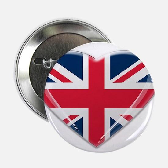 """Union Jack Heart 2.25"""" Button"""