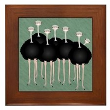 Ostrich Framed Tile