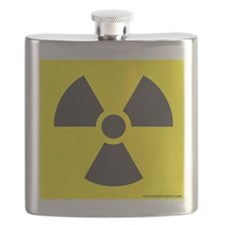 Radiation Sign Flask