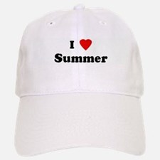 I Love Summer Baseball Baseball Cap