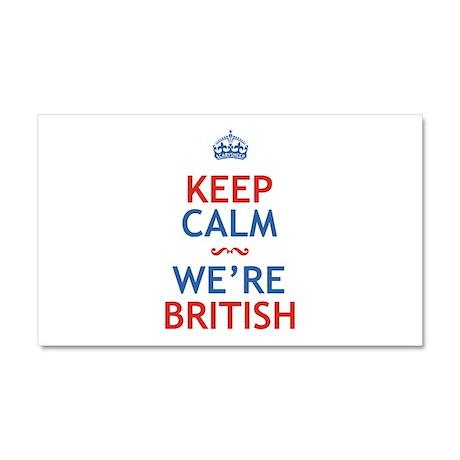 Keep Calm Were British Car Magnet 20 x 12