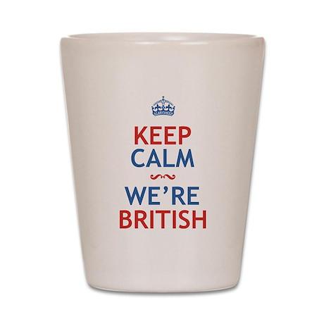 Keep Calm Were British Shot Glass