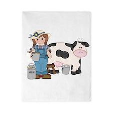 Dairy Farm Girl Twin Duvet