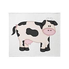 Holstein Milk Cow Throw Blanket