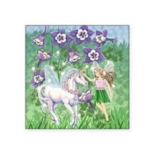 "Fairy Unicorn Square Sticker 3"" x 3"""