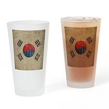 Vintage South Korea Flag Drinking Glass
