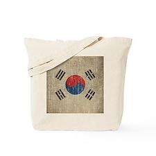 Vintage South Korea Flag Tote Bag