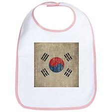 Vintage South Korea Flag Bib