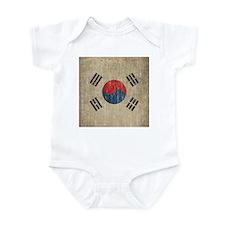 Vintage South Korea Flag Infant Bodysuit