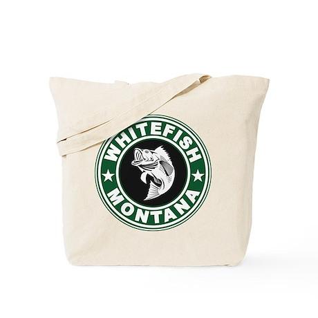 Whitefish Green Circle Tote Bag