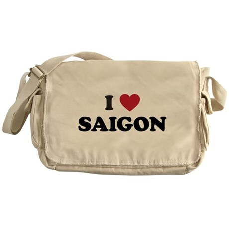 I Love Saigon Messenger Bag
