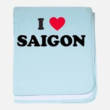 I Love Saigon baby blanket
